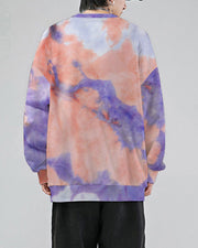 Multicolor Tie Dye Long Sleeve Sweatshirt T-shirt