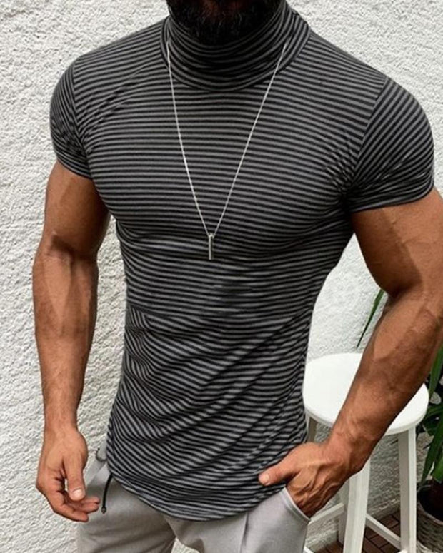 High Neck Muscle Fit T-Shirt