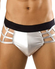 Solid Color Hollow-out Thong Underpants