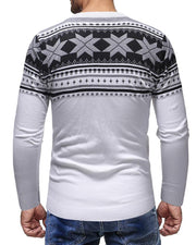 Polygon Pattern Printing Long Sleeve T-shirt