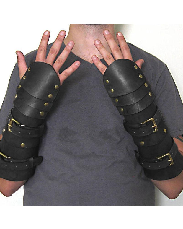 Solid PU Cosplay Soldier Gloves