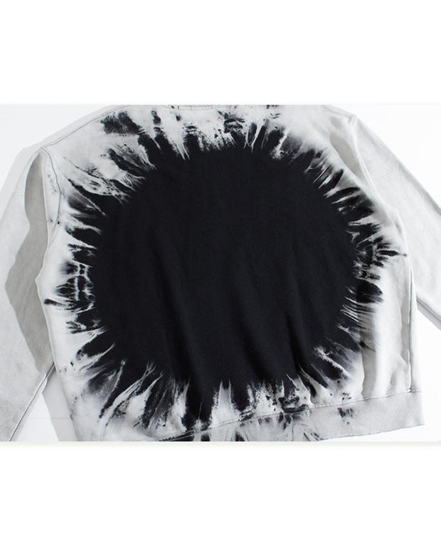 Tie-dye Printing Long Sleeve Sweatshirt