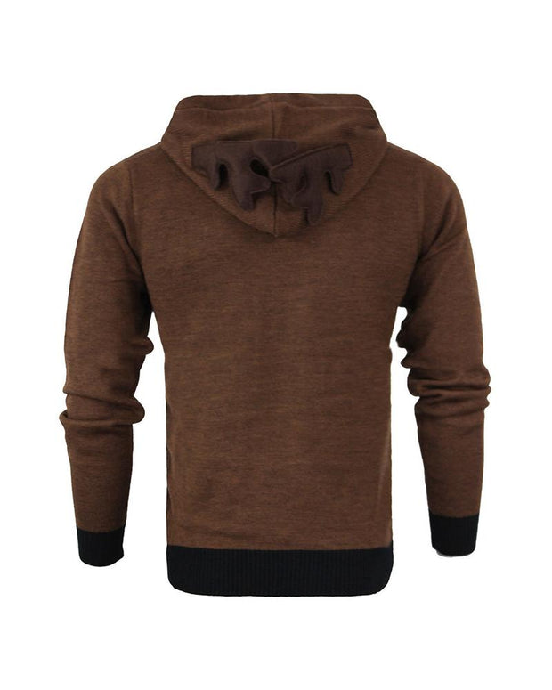 Elk Long Sleeve Fluffy Hoodies Sweatshirts