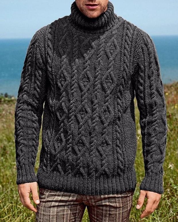 Solid Long Sleeve Knit Sweater