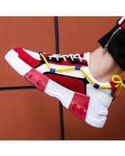 Color Block Round-toe Sneakers