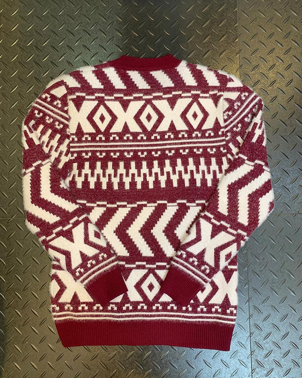 Christmas Patterns Knitted Fitting Sweater