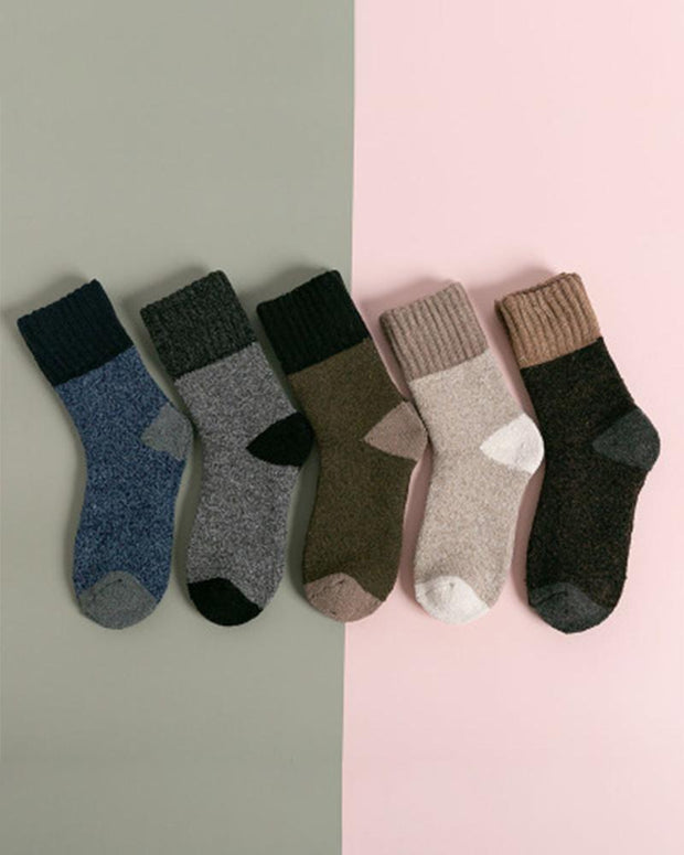 Winter Color Block Thick Socks