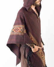 Ethnic Print Long Sleeved Hooded Hoodie