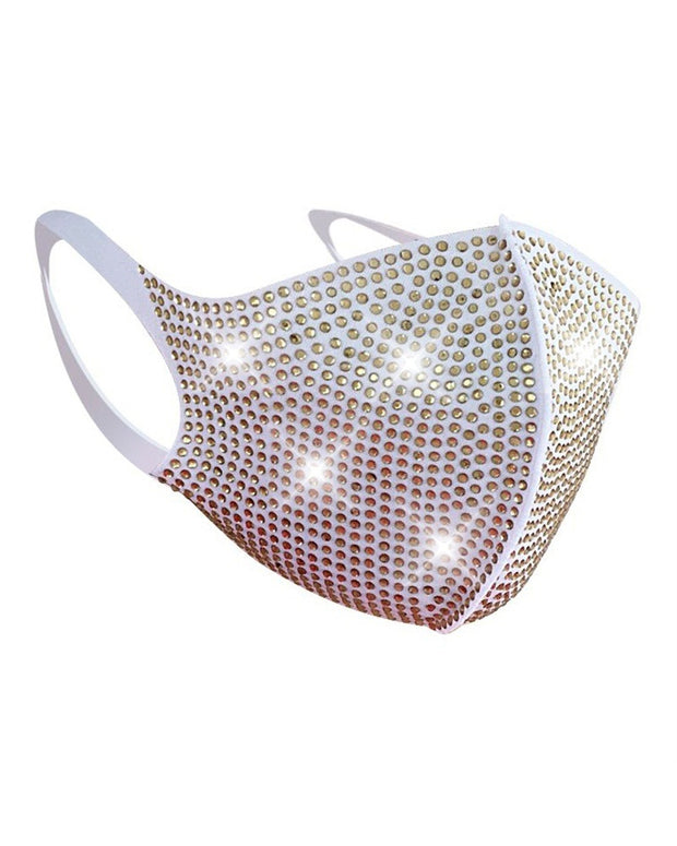 Fashionable Splicing Studded Mask
