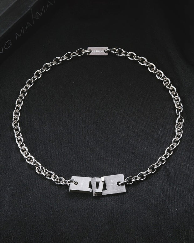 Hip-hip Titanium Steel Chain Necklaces
