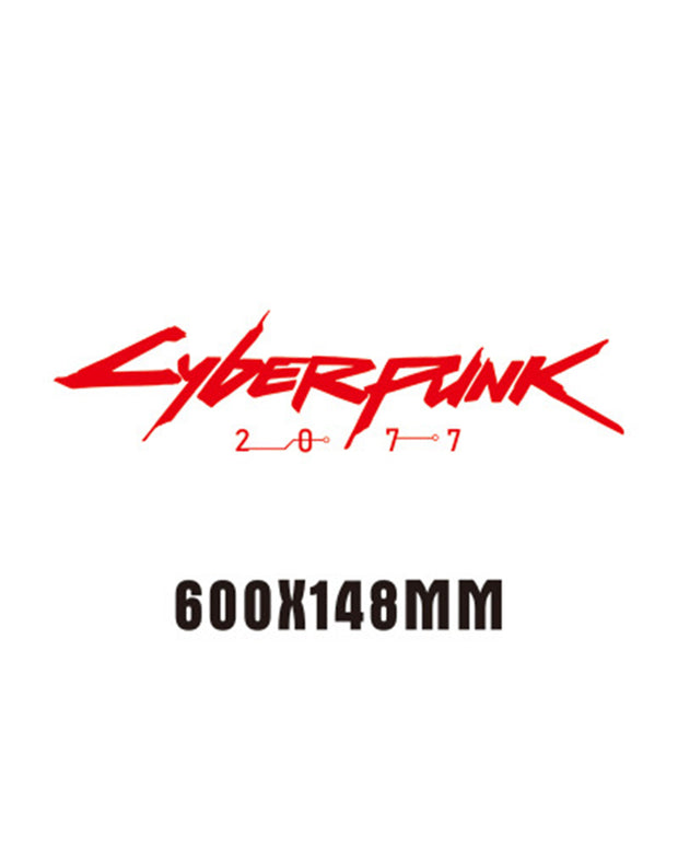 Cyberpunk 2077 Car Rear Glass Reflective Car Sticker
