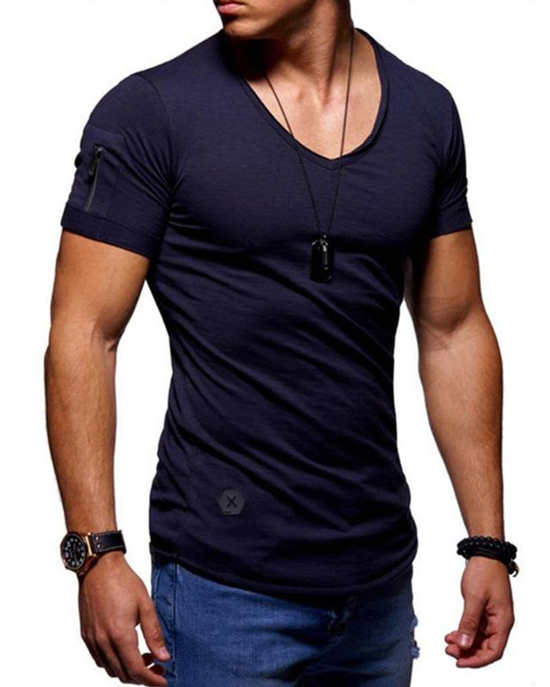 Solid V-Neck T-Shirt