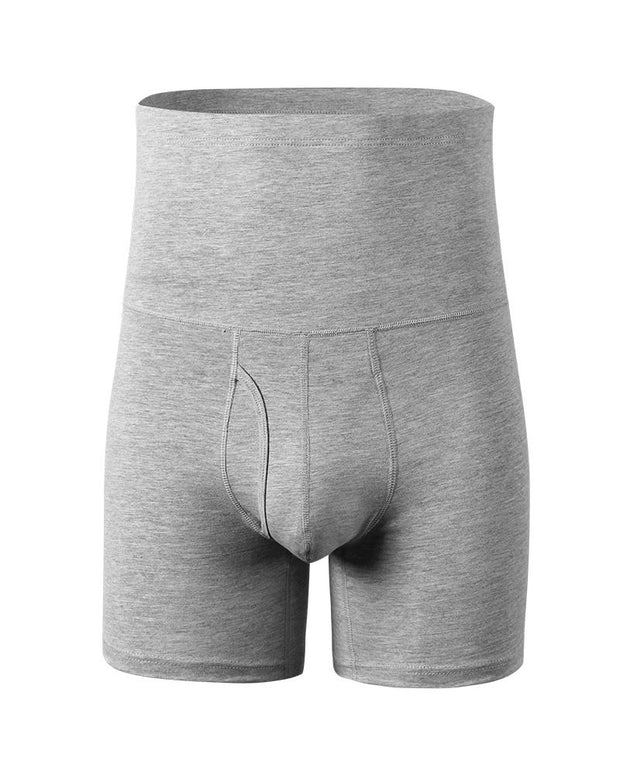Solid Skinny High Waist Tight Boxer Shorts