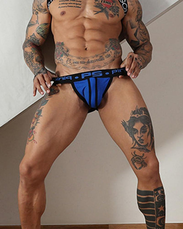Color Border Skinny G-String Underwear Shorts