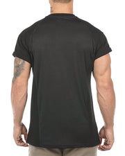 Casual Solid Color Sports Training T-shirt