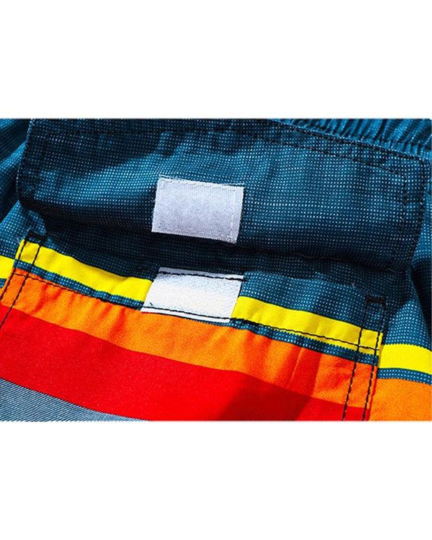 Colorblock Drawstring Quick-dry Beach Pants
