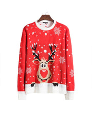 Christmas Patterns Snowy Long Sleeve Sweater