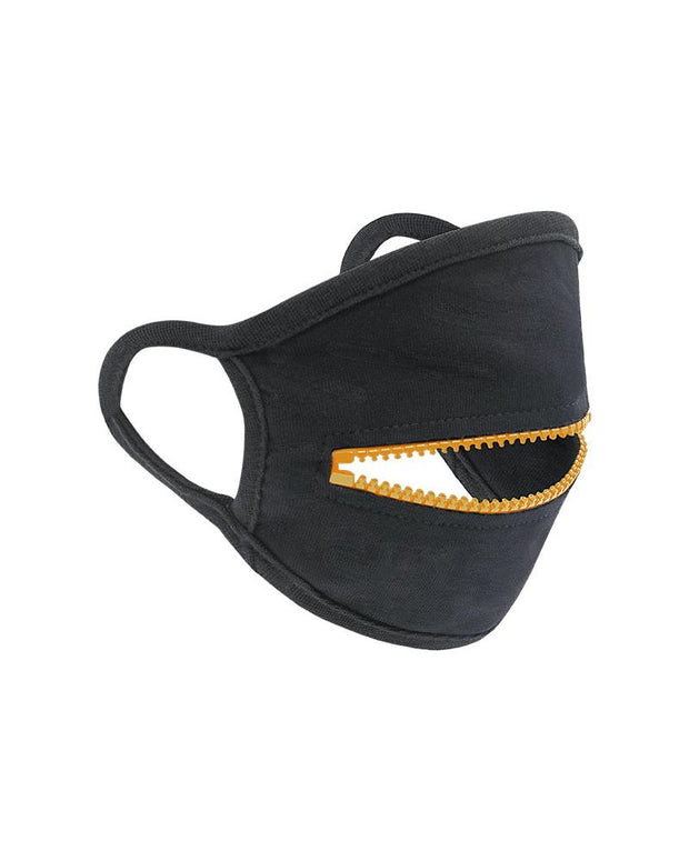 Colorblock Zipper Breathable Earloop Mouth Mask