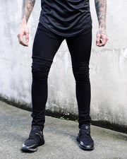 Solid Washing Effect Skinny Denim Pants Jeans