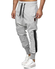 Colorblock Loose Drawstring Sporty Cargo Pants