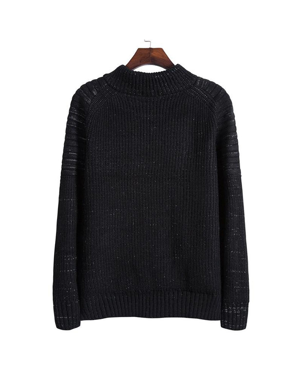 Solid Long Sleeve Loose Sweater