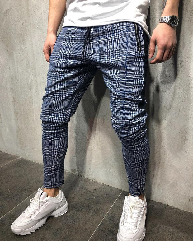 Plaid Print Loose Harem Pants
