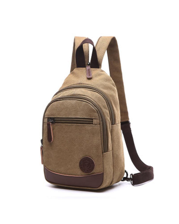 Casual Solid Color Canvas Backpack
