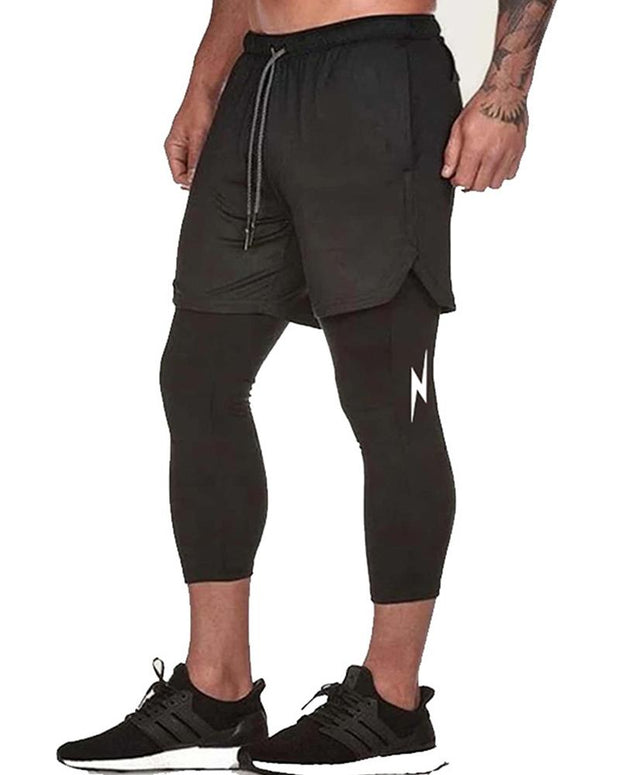 High Elastic Quick Drying Training Nine-point Pants