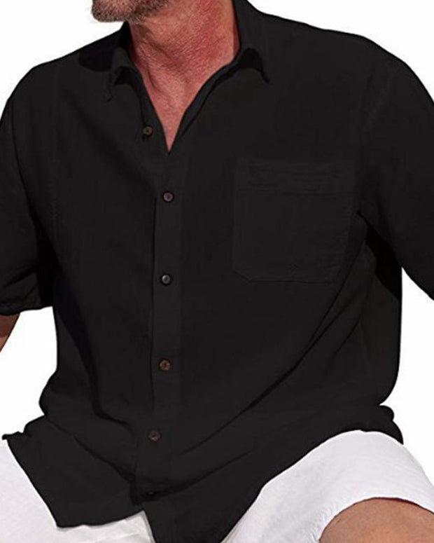 Front Pocket Button Down Shirt