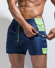 Side Contrast Beach Shorts