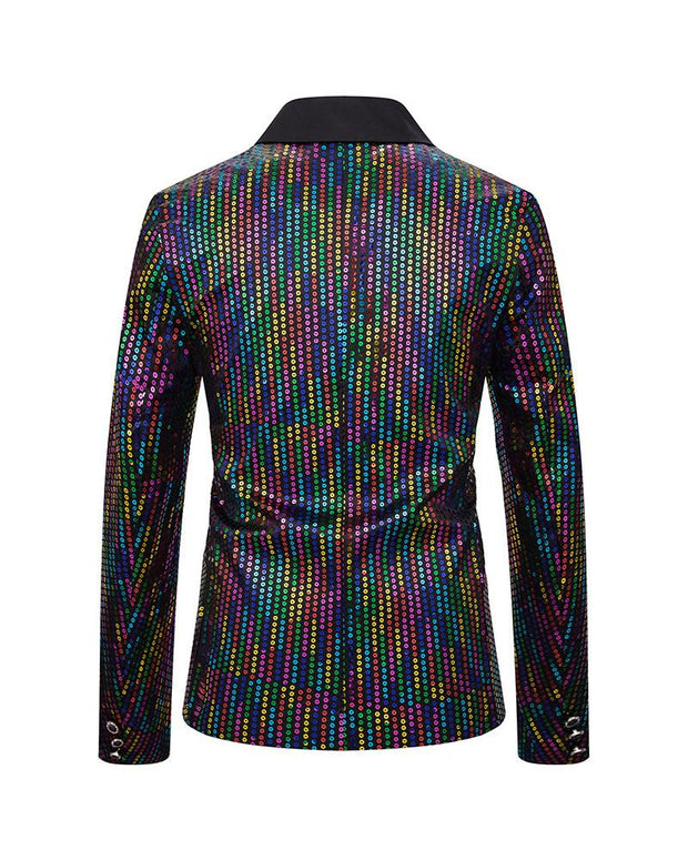 Casual Sequin Long Sleeve Blazer