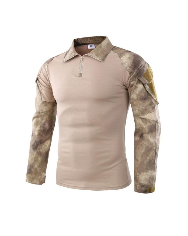 Camouflage Patchwork Fitting T-shirt