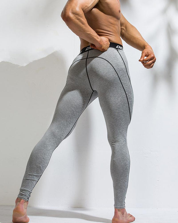 Solid Color Border Skinny Sporty Pants