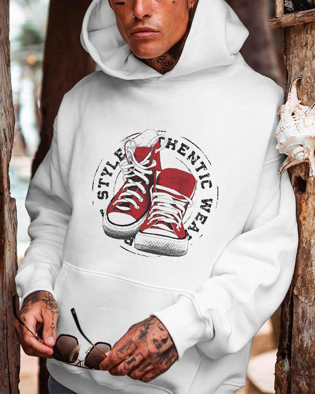 Shoes Printing Long Sleeve Hoodies Sweatshirt