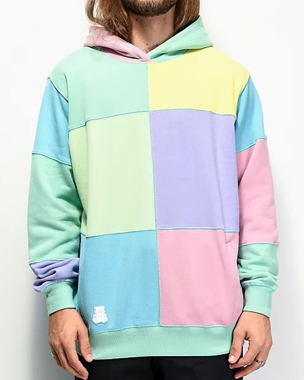 Colorblock Long Sleeve Hooded Sweatshirt