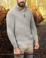 Solid Long Sleeve Fitting Knit Sweater