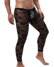 Solid Lace Skinny Socks Pants
