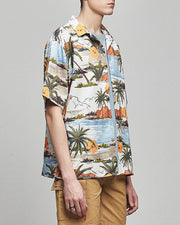Beach Print Short Sleeve Loose Shirts
