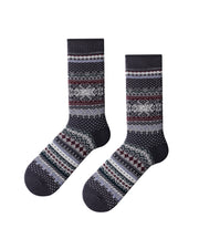 Retro Multicolor Stripe Skinny Socks