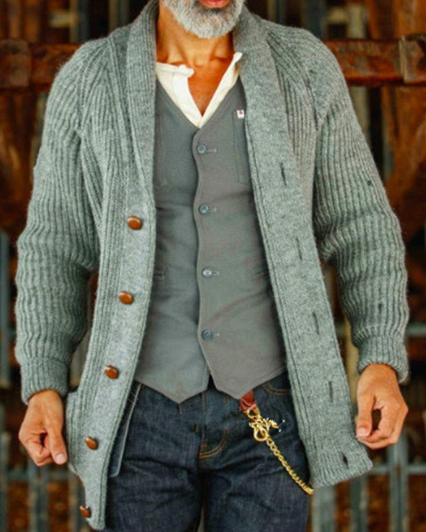 Solid Color Long Sleeve Ribbed Cardigans
