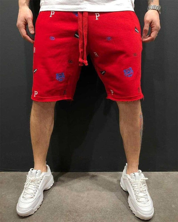 Casual Embroider Drawstring Sports Pants