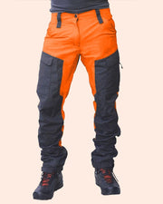 Colorblock Loose Pockets Biker Pants