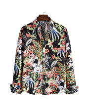 Hawwi Flower Printing Long Sleeve Loose Shirts