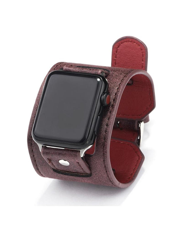 Iwatch Leather Alloy Strap Smart Watch Bracelet