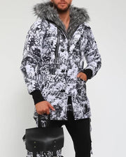 Tie Dye Fluffy Fur Hoodies Long Sleeve Loose Coats