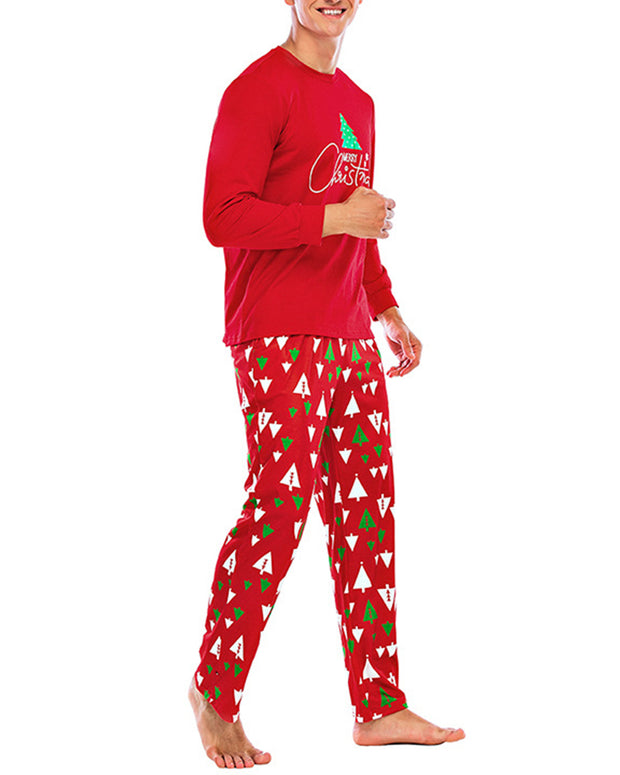 Christmas Long Sleeve Loose T-shirts With Pants Suit Sets