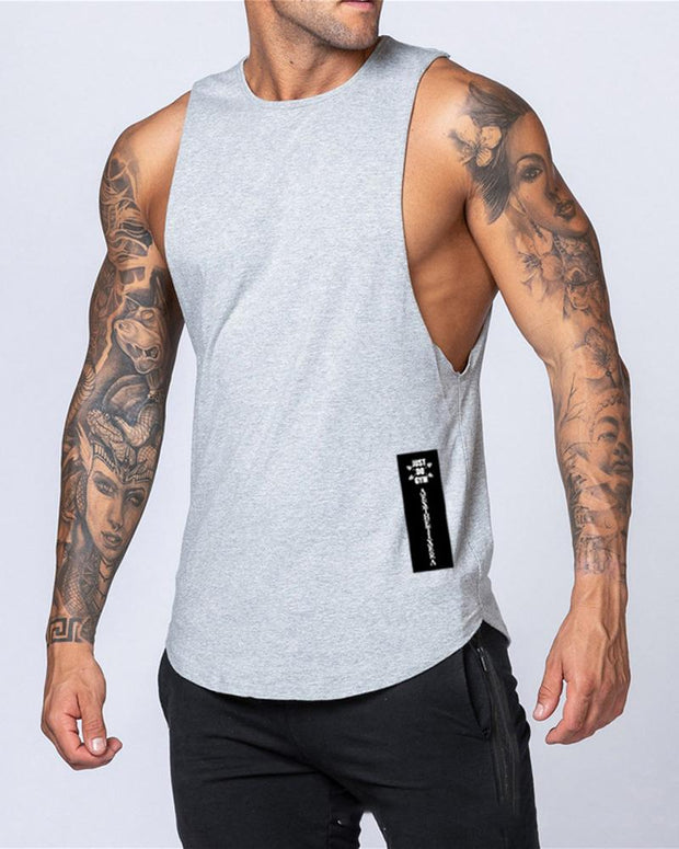Casual Solid Color Sleeveless T-shirt