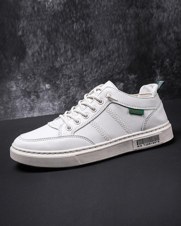 Solid Color Lace-up Sneakers