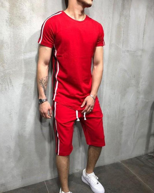Side Striped T-Shirt & Shorts