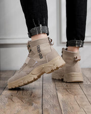 Solid Bandage Lace-up Round-toe Martins Boots